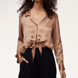 Aritzia Wilfred New Tie-front Blouse